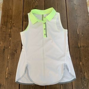 Size 10 Ivviva girls summer tank top blouse golf
